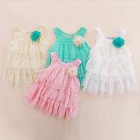 2014 new summer girls spend Duolei Si harness dress princess dress baby cake dress Free Shipping
