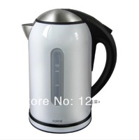 Top Quality White and Red color Electric kettle Stainless Steel teapot 1.7L with U.K STRIX Temperature Controller, heating plate