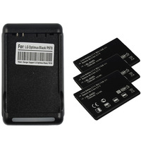 Free shipping 3 BATTERY 1500MAH+CHARGER FOR LG CONNECT 4G MS840/MARQUEE LS855/ OPTIMUS P970
