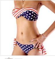 2014 big chest bikini swimsuit small chest gather bikini vs Europe and America swimwear tops