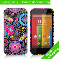 High Quality Butterfly Flower Pattern TPU Case Cover For Motorola Google Moto G Free Shipping UPS DHL EMS CPAM HKPAM CV-11
