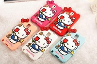 New Product Red Rose Love Hello Kitty Soft Silicone Case for Samsung Galaxy Note 3  N9000 Back Skin Cover Super Quality TEP-3193
