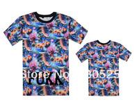 FUKK Galaxy T shirt New Arrival Casual Leopard Design T-shirt 9 styles men short sleeve Free Shipping Size S M L XL XXL XXXL's