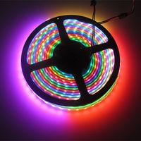5M 74 LEDs/m WS2812B WS2811 WS2812 4-Pin LED Digital Strip Light RGB 5V Black WP