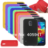 1pcs New Colorful silicon Soft Back Cover Case For Samsung galaxy S5 G900 silicone case for s5 i9600 free shipping