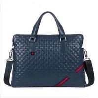 Cowhide business pack Briefcases casual handbag shoulder bag messenger bag genuine leather man bag 8836-1