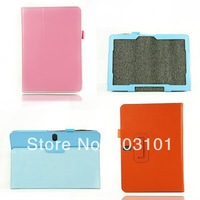 2014 High quality Litchi Grain leather wallet case for samsung Tab Pro 10.1 inch T520