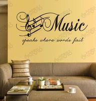 Free Shipping note sticker music  sticker wall decals art wall decor wall stickers