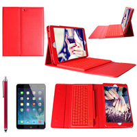 Free shipping 2014 New!! Cover case for ipad air ipad 5 detachable rotate bluetooth keyboard colorful tablet case & bag #L58374