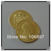 NON-Magnetic 5 pieces / lot Newest 1730 1Ducat Anna  999 Gold Russia  gold replica coin