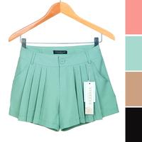 2014 Newest 4 Colors Women's Bouffant Shorts Skirt Slim Zipper Trousers Culottes High Quality Good Processing  JW-S049