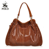 WEIDIPOLO brand Snakeskin women Genuine leather handbag fashion brown women messenger bag shoulder bag freeship Promotion