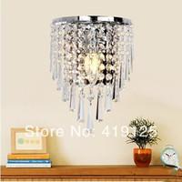 Free shipping new modern fashion wall lamps crystal wall light bed-lighting crystal E14 wall mounted lights