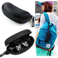 Details about NEW Zipper Eye Glasses Sunglasses Hard Case Box Portable Protector Bag Black HOT