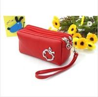 New 2014 fashion women handbag lovely leather clutch purse fashion women wallets free shipping