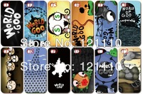 10PCS/lot hot selling World of Goo case white Hard Case Cover for iphone 5 5th 5S +Free shipping in stock