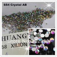 FreeShipping 1440pcs/pack Crystal AB Flat Back Rhinestones Nail Art Non Hotfix Decoration choose size SS4/SS6/ SS8 /SS10 10Gross