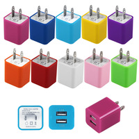 2000pcs/lot, Hot AC100-240V to 5V 2.1A 1A Dual USB Output US Plug Travel Wall Charger Adapter for iPhone iPad Samsung Tablet
