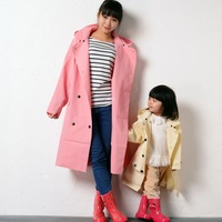 14 spring fashion adult child raincoat female waterproof trench raincoat eva baby raincoat poncho