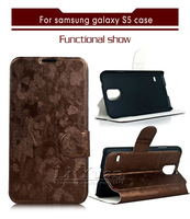 Luxry Bands PU Leather Cover Case For Samsung Galaxy S5 I9600 With Flip Magnetic ,1PCS Free Postage