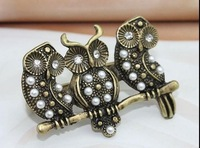 new  fashion boutique extraordinary jewelry night owl 2 finger ring wholesale  Mix mini order is $10  free shipping SJ