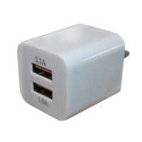5000pcs 2 port Dual 2.1A USB US AC Plug Wall Charger For iPhone 4S 5 for iPad 4 Mini for SAMSUNG S4 S3 for HTC