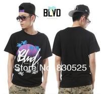 2014 mens cheap Rock hip-hop cotton Blvd T-Shirts Tees short sleeves Tee T shirt size:S,M,L,XL,XXL,3XL