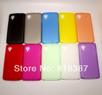 0.3mm Ultra Thin Slim Transparent Clear Matte Frosted Soft PP Case Cover Skin for LG Google Nexus 5 Free Shipping 10pcs/lot