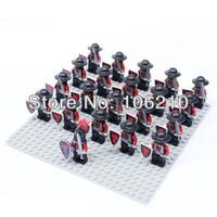 21pcs Dragon Warrior B Minifigure fit all brand Building Block doll,Castle Knight Brick  WOMA Sluban Decool mini figures