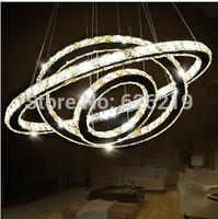 Modern brief Led crystal pendant lights  living room  Bedroom lamp Crystal circle light Luminaire Luminaria abajur Free shipping