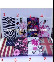 100pcs/lot free shipping Newest UK USA flag flower flip PU leather case for LG OptimusLG L7 II p713/710