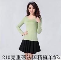 2014 Fashion Women's sweater spring long-sleeve basic shirt round neck  cashmere T- shirt