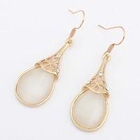 Promotion Cats eye earrings Jewelry white Drop earrings free shipping Jewelry