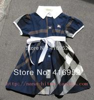 Free shipping 2014 summer dress princess dress female Tong Gezi B family style in Europe and America elegant plaid skirt