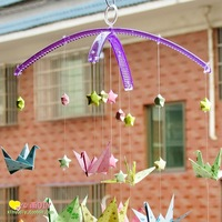 Diy handmade windbags biandan material double kit rod 12 wind chimes indoor decoration