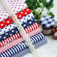 50*50cm 8 pcs Navy red & blue Handmade Cotton Fabric Fat Quarter Bundle Quilting Patchwork Tilda Fabric Sewing Free shipping