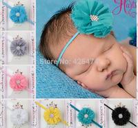 младенческой малышей baby заставку украшения accessories.with горный хрусталь Перл. 20шт 11 см ювелирные изделия цветы из шифона