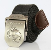 Free ShippingCanvas strap male belt all-match outdoor casual male strap canvas belt lengthen 567