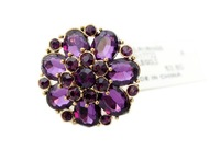 new  fashion boutique prety  flower ring aulic jewelry full rhinestone Mix mini order is $10  free shipping SJ
