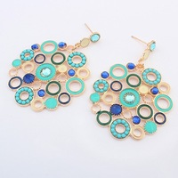 2014 Latest Fashion Jewelry,European and American Style Women's Popular Bohemian Geometric Circle Earrings Free Shipping#104413