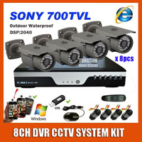 2014 NEW 8CH CCTV System Kit Sony 700TVL Waterproof Outdoor Infrared Video Surveillance DVR HDMI 1080P Security Camera System