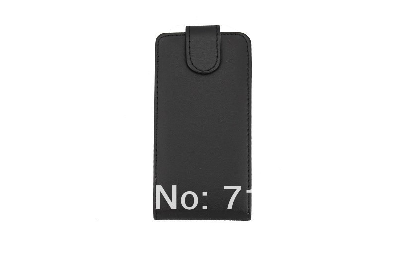 2pcs/lot Black Mobile Phone Up and Down Pure Color Vertical Flip Leather Case for Nokia Lumia 720(China (Mainland))