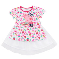 2014 spring new girl dress  peppa pig dress,  child short-sleeve dress ,100% cotton,girl clothing