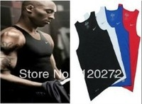 FREE SHIPING!Kobe Pro Combat  Running  Sports  Vest  Fitness  Sleeveless DIR - FIT Tank Tops