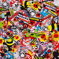sticker bomb Cartoon Skulls Pattern Water Transfer Printing Hydro Graphics Film width 50cm GWAS001