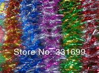 Party decor Christmas tinsel ornament decoration fashion colorful glitter garland silver gold multi color