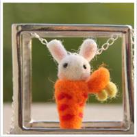 Radish rabbit earrings female wool felt drop earring earrings stud earring necklace