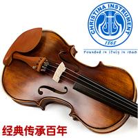V02 genuine antique handmade violin  Grading beginners  Adult children of high-grade wood musical instruments