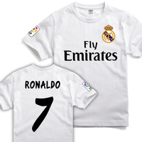 2014 fashion T-shirt  100% casual cotton short-sleeve T-shirt 7 RONALDO o-neck fans supplies