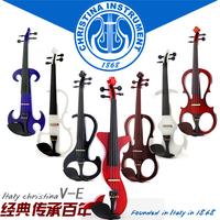 Christina electro-acoustic violin multicolour pick-up electric violin